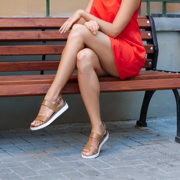 Brown Shoes With Red Dress